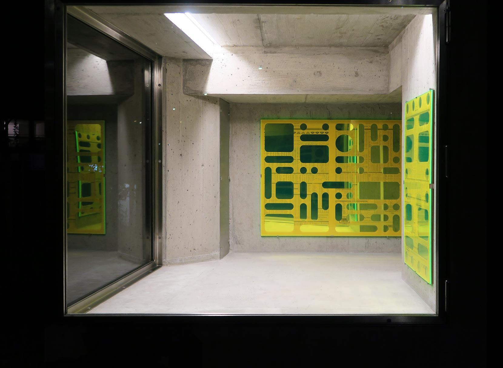 Baker Wardlaw, vue de l'exposition à Lemme Art Contemporain, Sion
